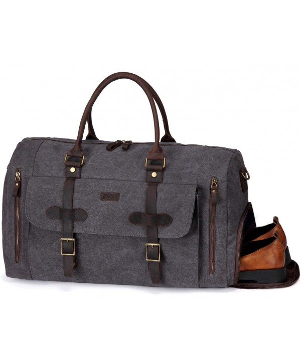 Vaschy Leather Compartment Weekend Holdall