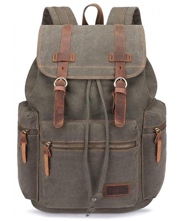 BLUBOON Vintage Backpack Leather Rucksack