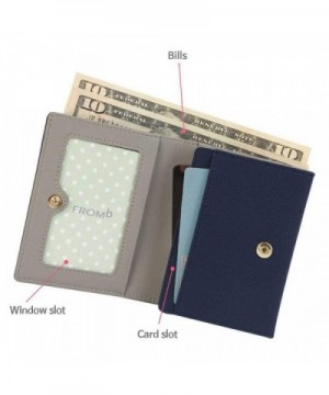 1085065c3c6 Women's Genuine Leather Mini Wallet ID Coin/Card Case Small Purse - Navy -  CD129SZA09J