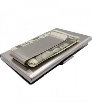 Business Holder Stainless Unisex Clip Silver
