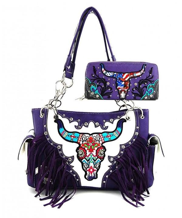 Western Fringe Handbag Wallet WSKL8469 SET
