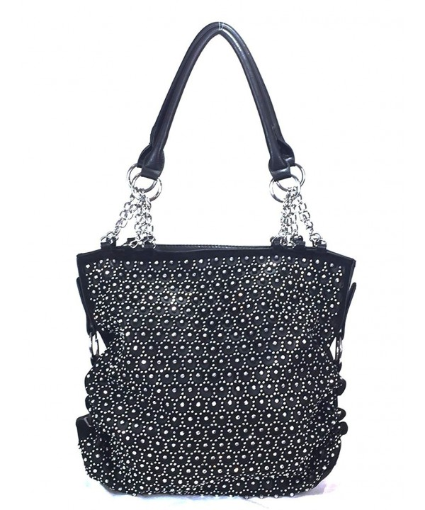 Zzfab Rhinestone Handbags Circle Sparkle