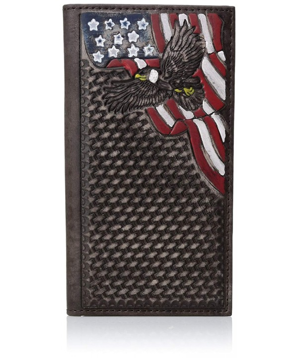 Nocona Men/'s Painted Usa Corner Rodeo Wallet