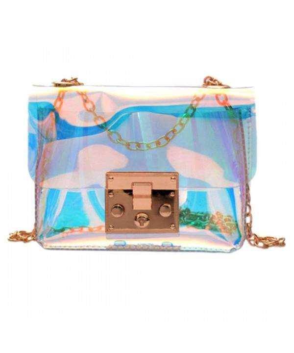 LABANCA Transparent Shoulder Hologram Handbag