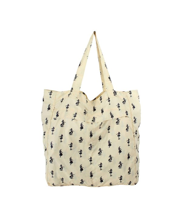 Convertible Tote Yellow Hula Print