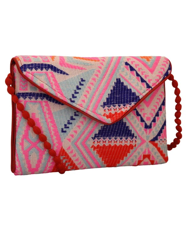 Handloom Jacquard Fabric Evening Clutch