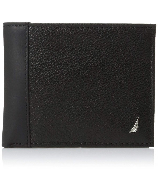 Nautica Milled Leather Passcase Wallet
