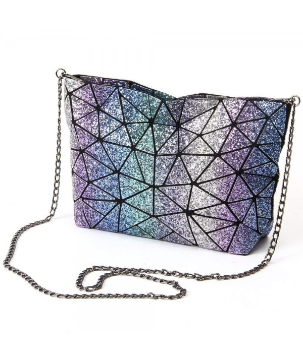 Sequined Handbag Geometric Diamond Shoulder