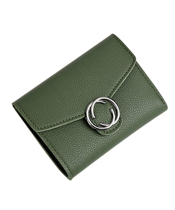 Kukoo Wallet Trifold Leather Clutch
