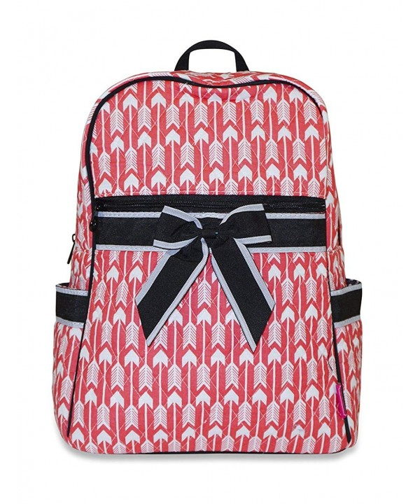 Ever Moda Quilted Backpack Coral