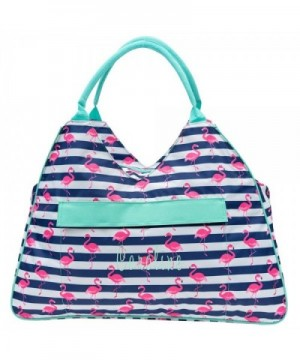 Pink Flamingo Large Beach Tote