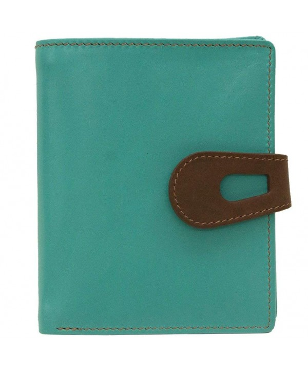 ili Leather Wallet Blocking Turquoise