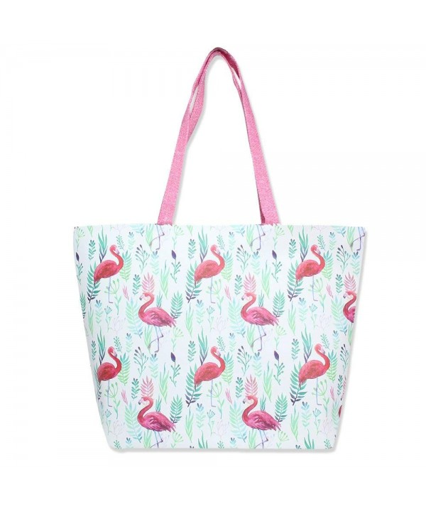 Colorful Summer Printed Zipper Flamingos