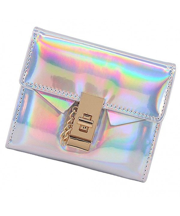 Fashion Wallet Hologram Leather Handbag