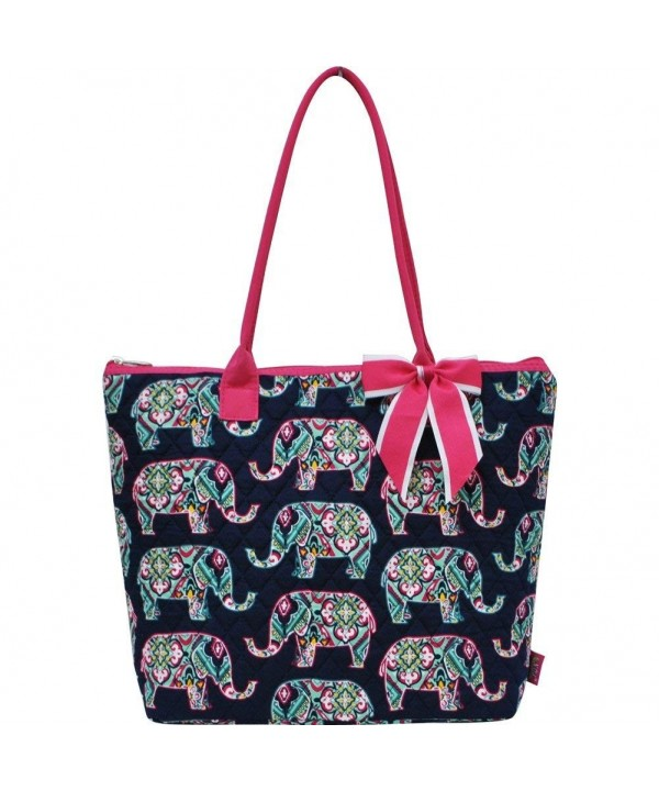 Elephant Print NGIL Quilted Tote