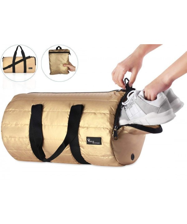c2455c4798 Sports Gym Bag Shoes Compartment 20L Foldable Travel Duffel Bag Men ...