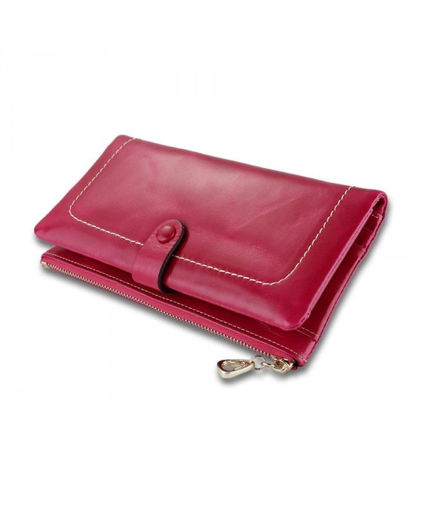 Q YEE Womens Wallet Capacity Leather