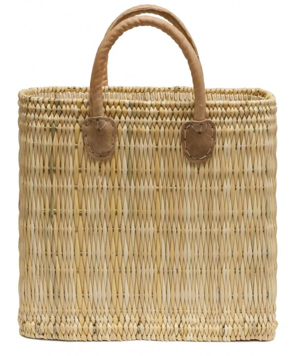 Moroccan Straw Tote Brown Handles