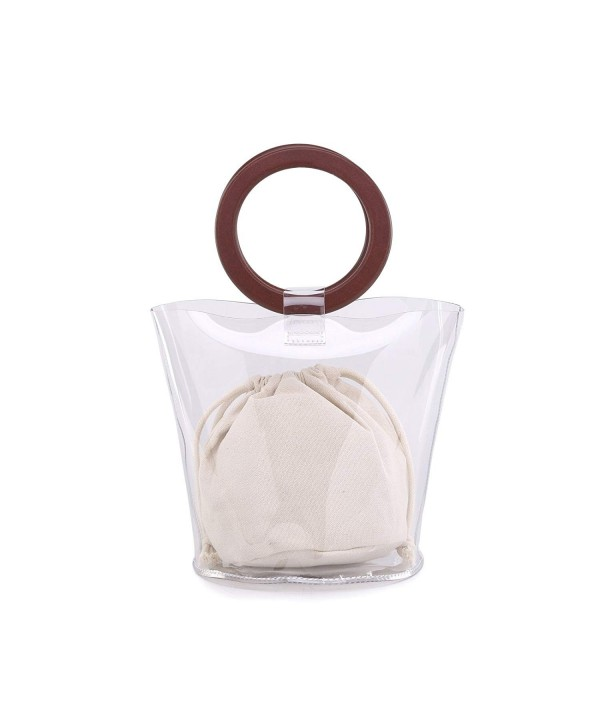 Gallery Transparent Handbags Drawstring Bags White
