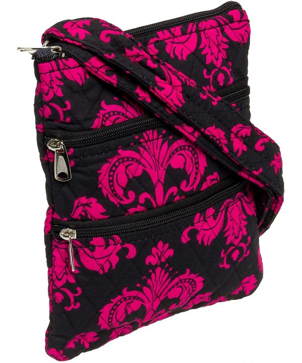 Silver Lilly Quilted Adjustable Crossbody