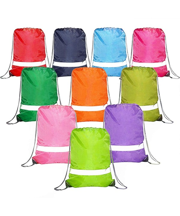 BeeGreen Drawstring Reflective Promotional Backpacks