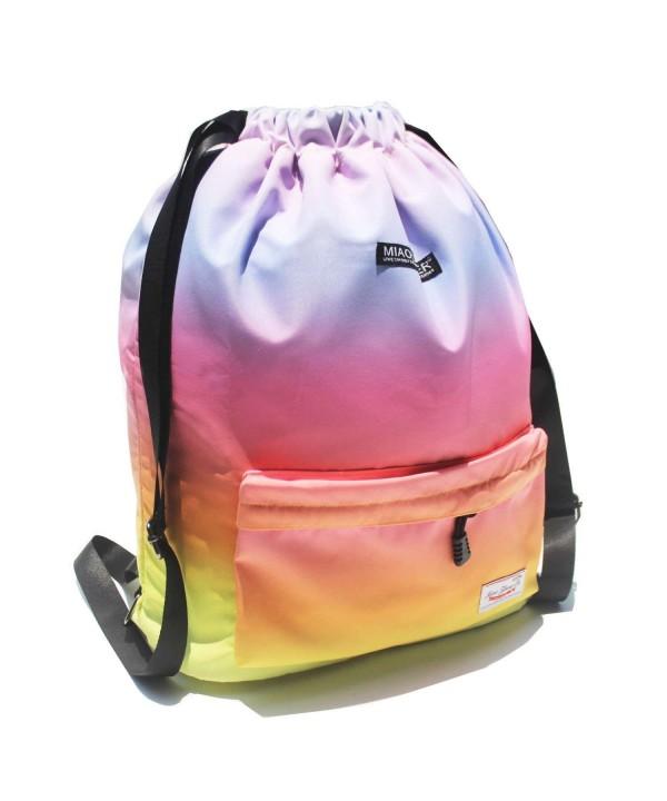Drawstring Waterproof Floral Backpack String