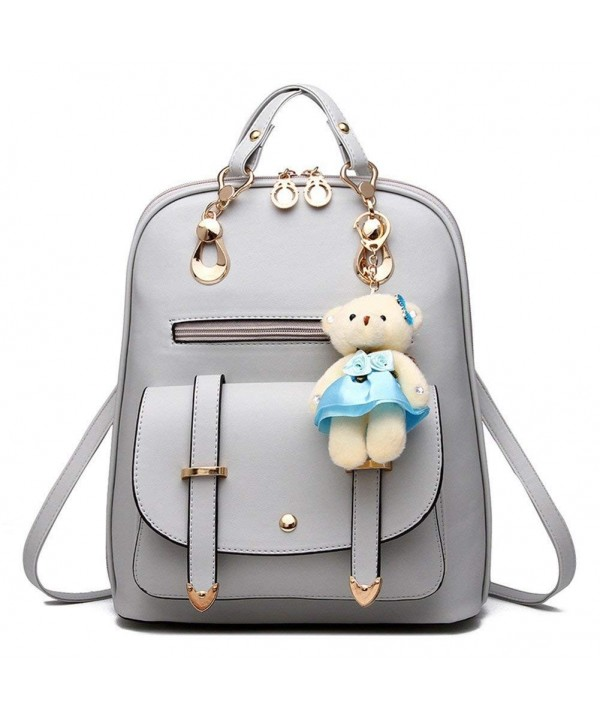 Women s Summer Cute Korean Leather Student Bag Backpack Shoulder Bag ... d4fa5b996398f