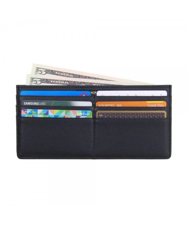 Womens Leather Credit Wallet Zipper