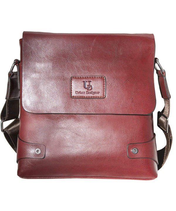 Genuine Leather Messenger Crossbody Mahogany