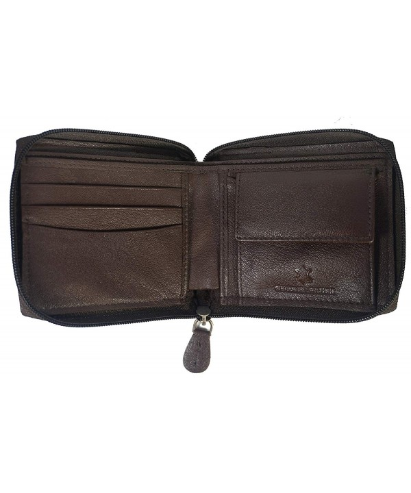 Bullz Leather Around Wallet Window