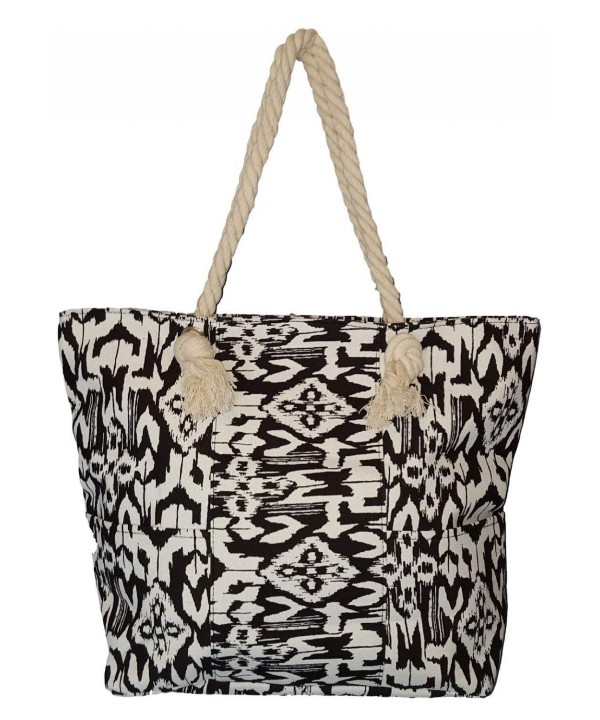 Abstract Print Beach Front Pockets