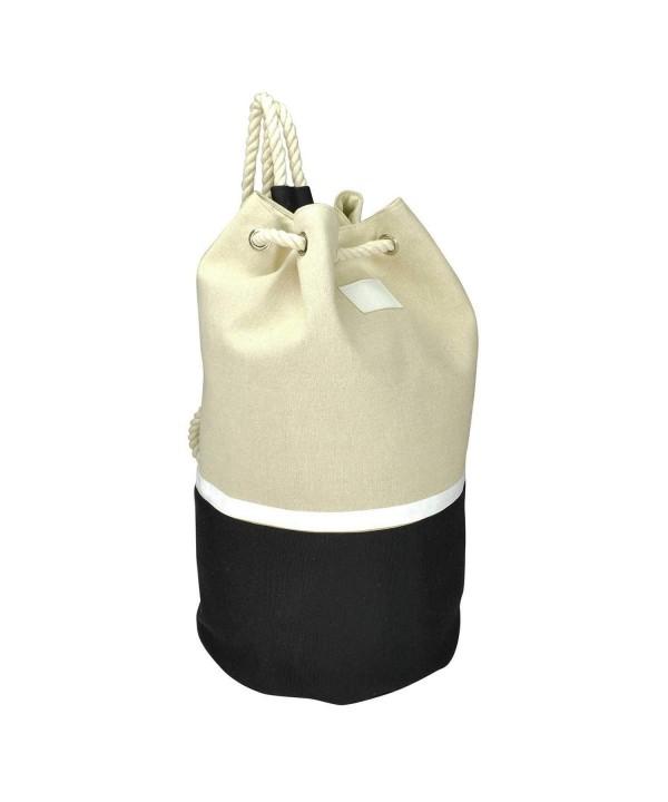 DALIX Large Drawstring Backpack Natural