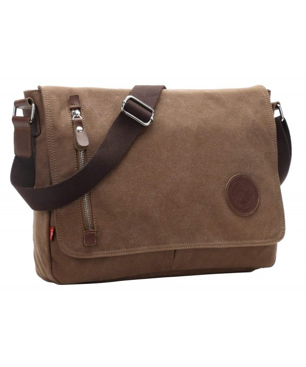 AIBAG Messenger Canvas Crossbody Coffee