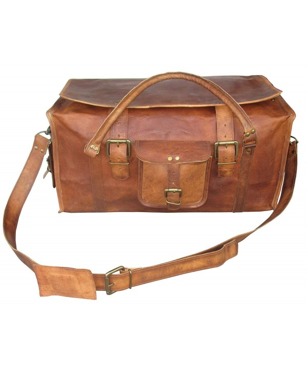 Retro Luggage Distressed Leather Duffel