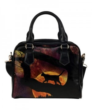 InterestPrint Halloween Leather Shoulder Handbag