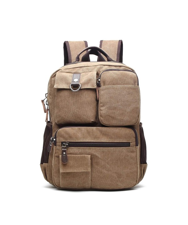 Canvas Crossbody Sling Backpack coffee