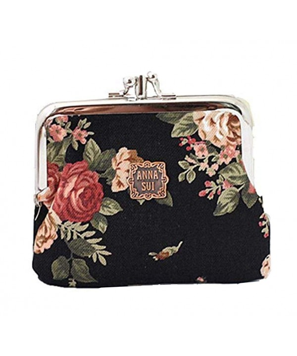 edfamily Floral Change Canvas Wallet