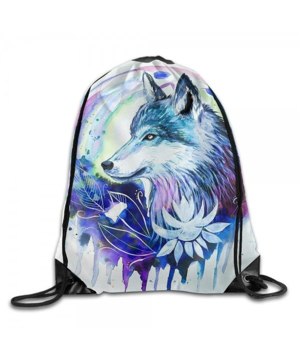 Printing Drawstring Portable Backpack Daypack