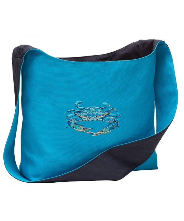 Blue Shoulder Crabs Sling Totes