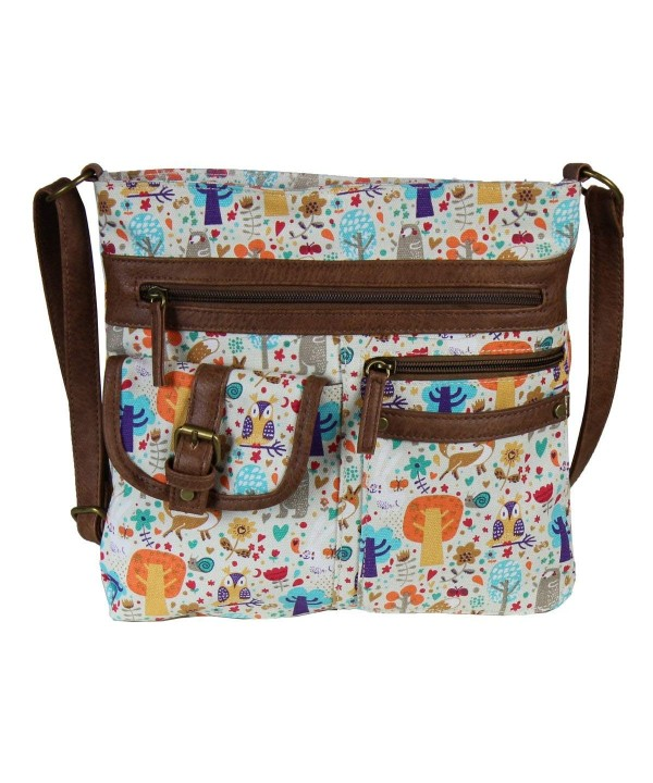 Whimsical Forest Crossbody Organizer Handbag