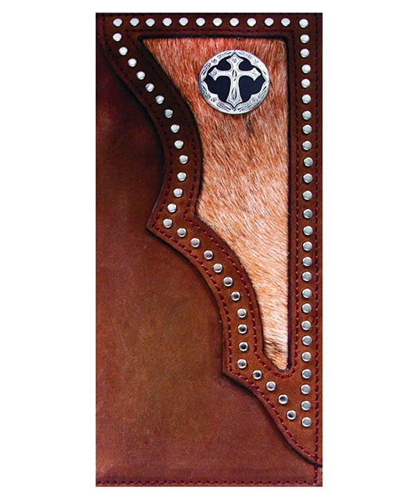 Custom Ornate Cross Checkbook Wallet