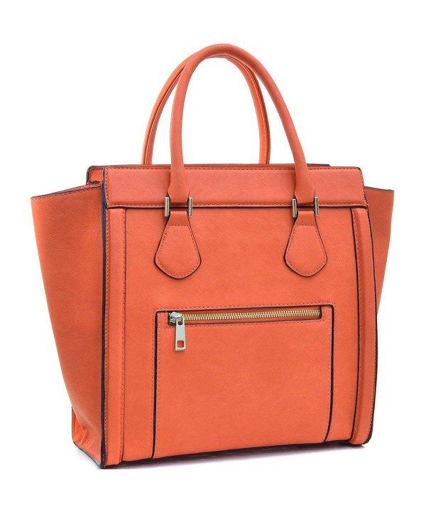 Dasein Handbags Satchel Leather Luggage
