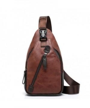 Leather Crossbody Shoulder Backpack KA014BR