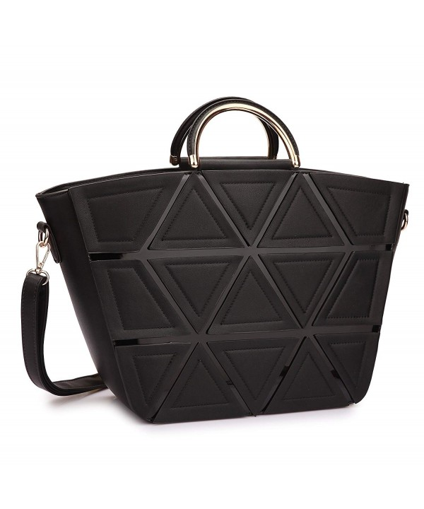 Designer Handbags Satchel Shoulder Geometric
