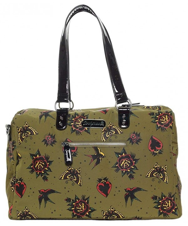 Sourpuss Hearts Roses Travel Bag