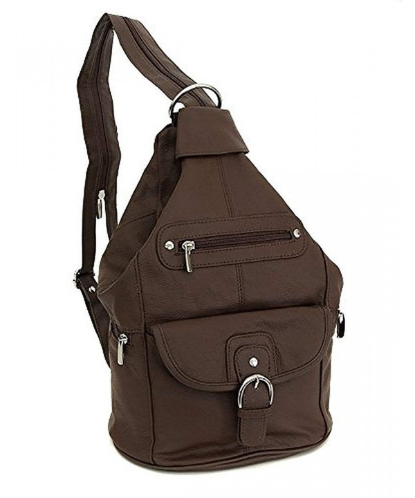 Womens Leather Convertible Backpack Shoulder