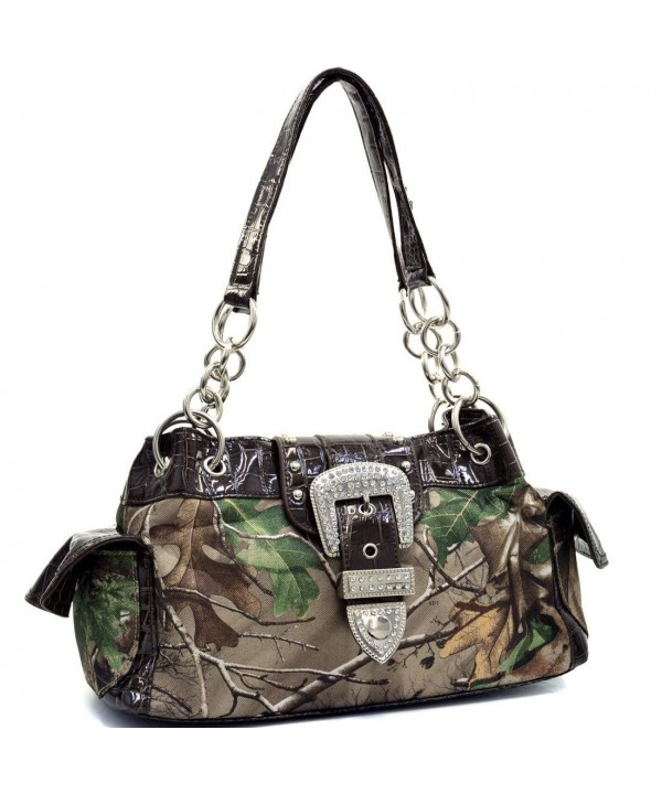 Realtree Camo Buckle Shoulder Bag