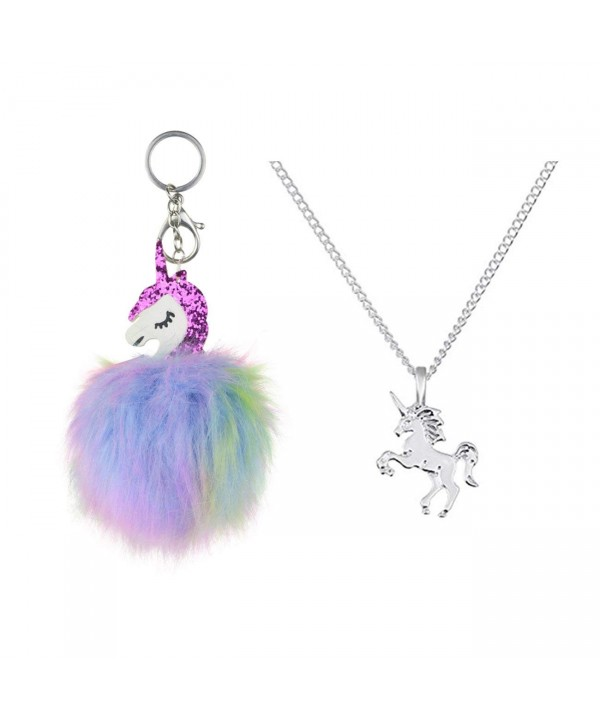DRESHOW Unicorn Necklace Chain Fluffy