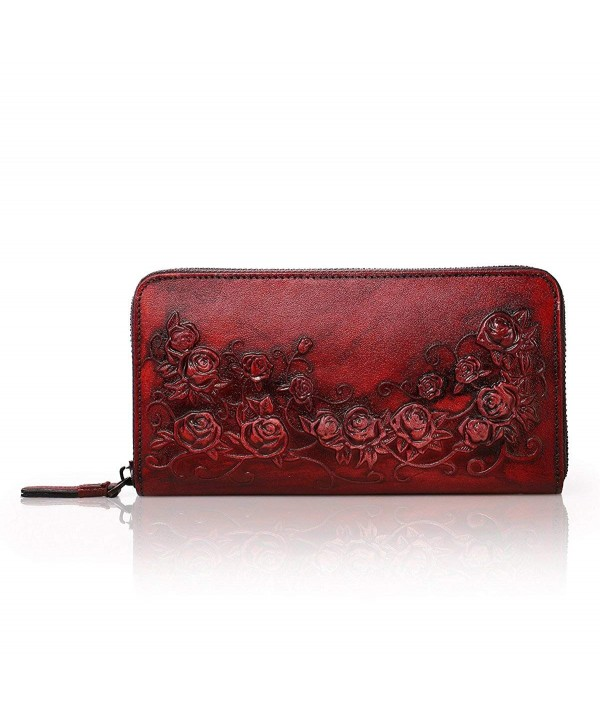 APHISON Designer Leather Wallets Embossed