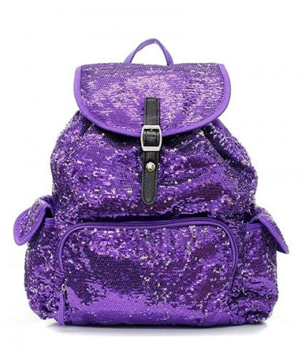 Sequin Fashion Backpack Pretty Purple